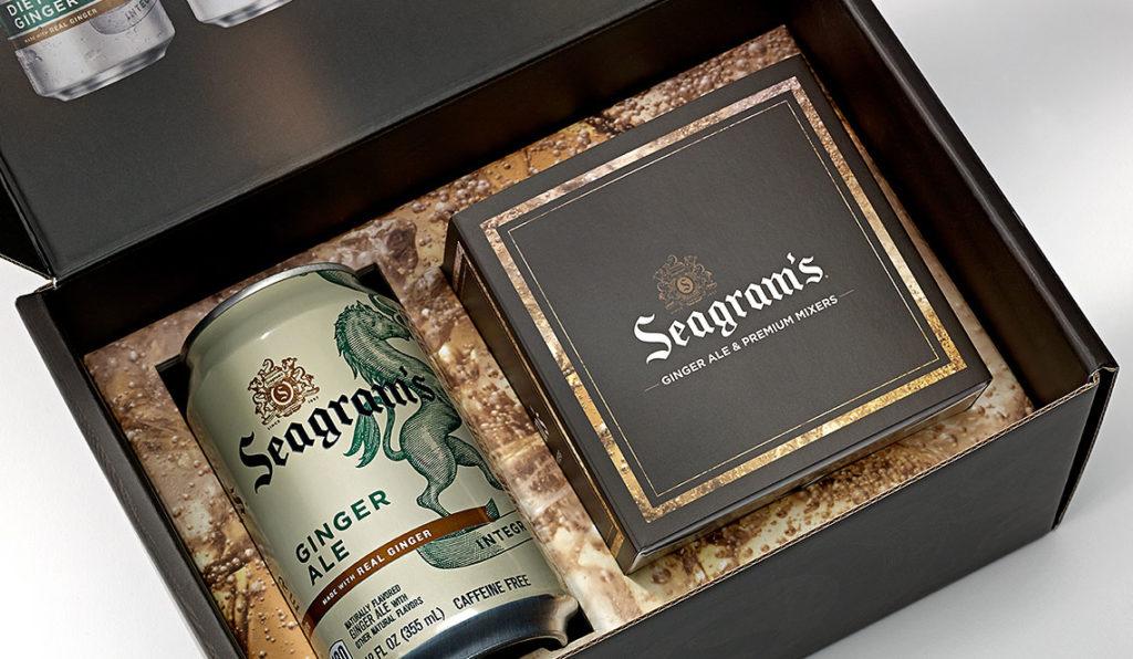 SEAGRAM'S luxury packaging
