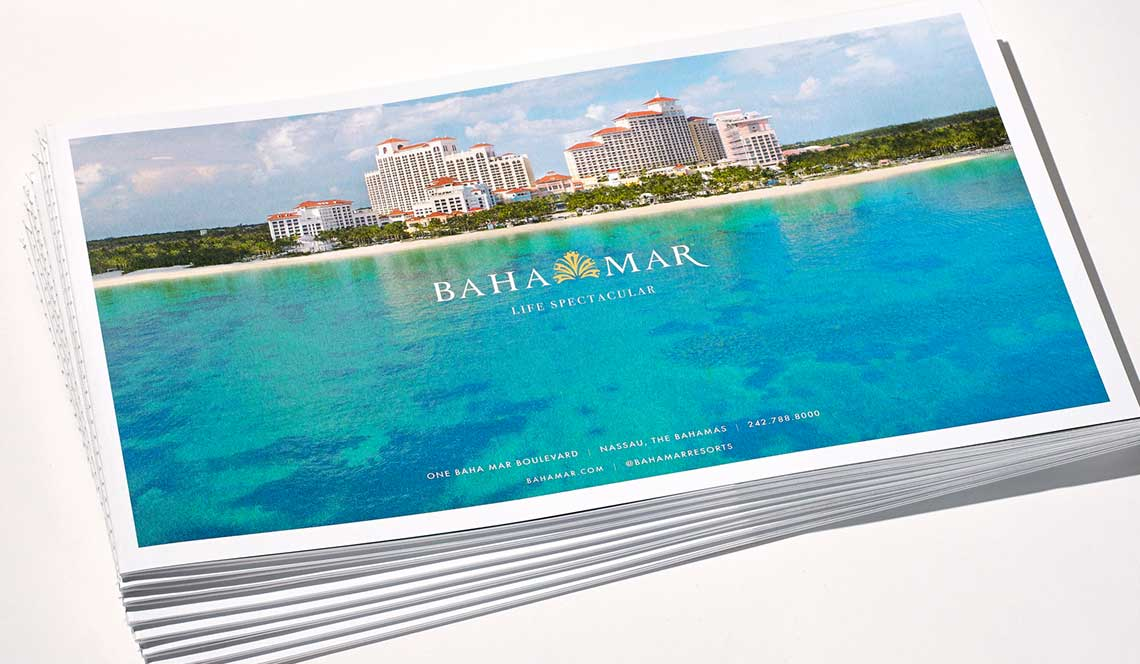 resort marketing materials