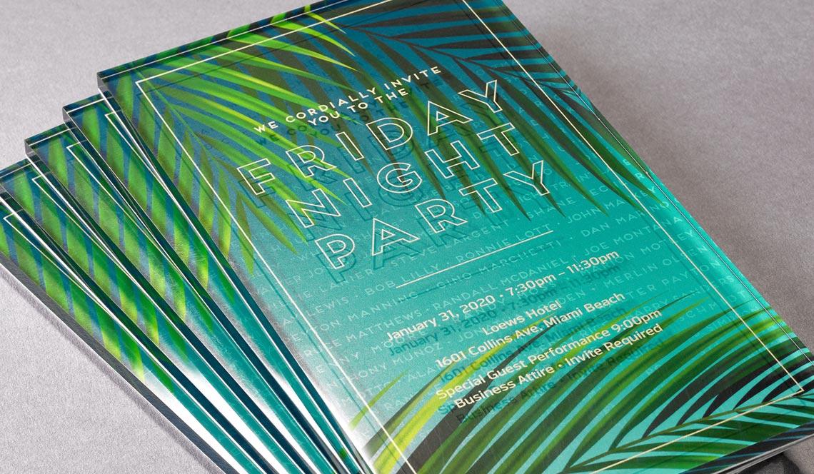 Invitation with RFID Tag